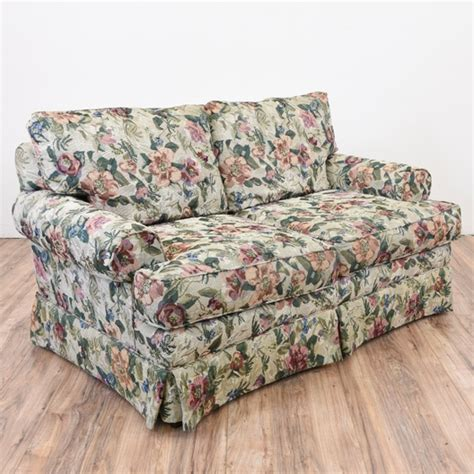 floral sofa loveseat loveseat vintage furniture san diego