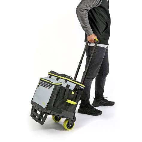 titan deep freeze collapsible rolling trolley cooler bag