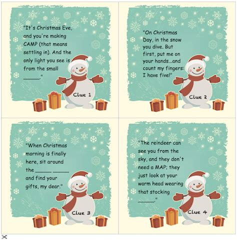 Christmas Scavenger Hunt  Nicely Formatted And Ready To Print
