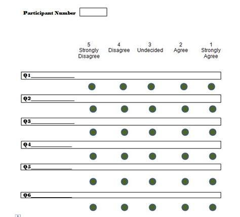 Likert Scale Template 30 Free Likert Scale Templates Exles Free Template