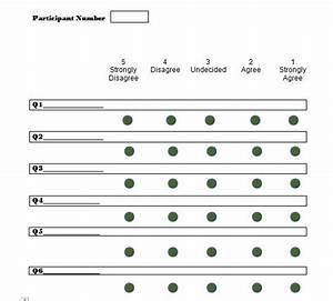 30 free likert scale templates examples free template With 10 point likert scale template
