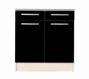 meuble bas de cuisine noir 80 cm 2 portes avec plan de With porte d entrée pvc avec meuble salle de bain 80 cm gris