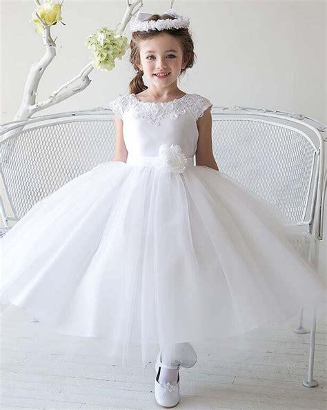 cheap simple tulle flowergirl white flower girl
