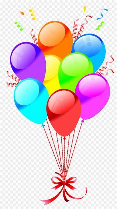 Balloons Birthday Clipart Happy Balloon Clip Bunch
