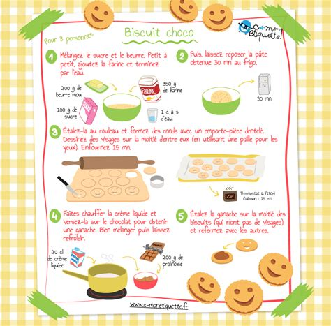 cuisine recette recette biscuits maison au chocolat recettes enfant