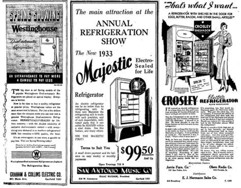 great depression   rise   refrigerator