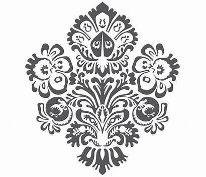 Batik Pattern Ornament Frame Bunga Transparent Motif