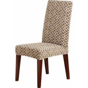 sure fit stretch ironworks short dining room chair