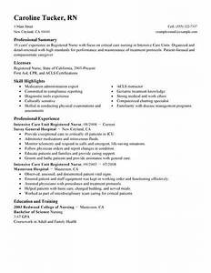 Example Summary For Resume Of Entry Level Best Intensive Care Unit Registered Nurse Resume Example