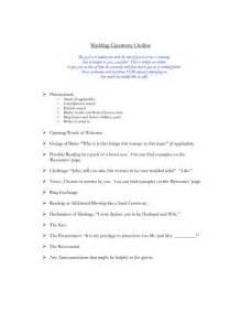 wedding ceremony script scope of work template t s wedding