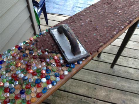 mosaic table top kit junk mail gems diy marble mosaic table top