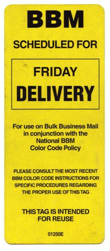 Bulk Business Mail Tag  Please Consult The Most Recent Bbm … Flickr