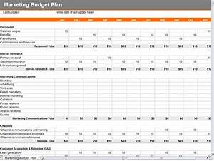 Image gallery marketing budget for Publicity plan template