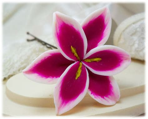 pink lily drop earrings pink lily dangle earrings