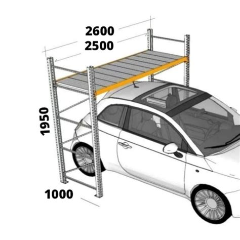 misure scaffali scaffali per box scaffalature per garage h195xl250xp40 cm