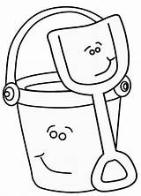 Bucket Coloring Pages Smiling Printable Getcolorings Getdrawings sketch template