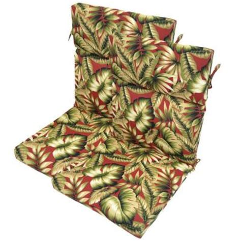 plantation patterns chili leaves high back outdoor chair