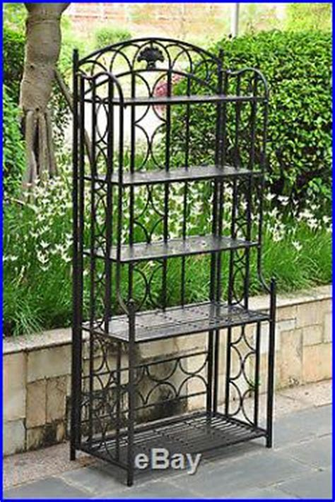 bakers rack plant stand indoor outdoor patio wrought iron