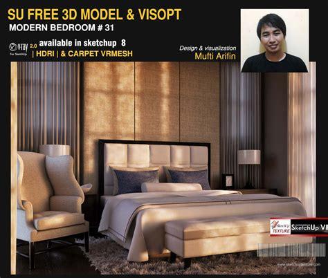 Sketchup Texture Free Sketchup Model Modern Bedroom #31