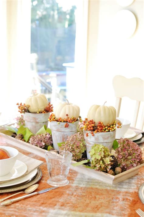 A Simple Fall Dining Tablescape  At The Picket Fence