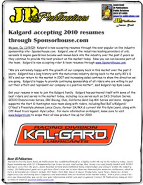 kalgard accepting 2010 atv resumes through sponsorhouse