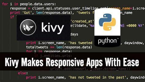 kivy  cross platform python gui framework  code apps