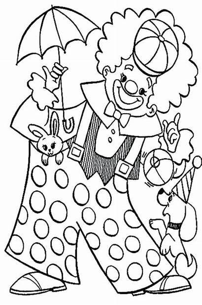 Clown Coloring Pages Circus Pennywise Carnival Colouring