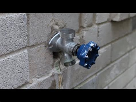 replace outdoor water faucet how to replace garden faucet outside spigot