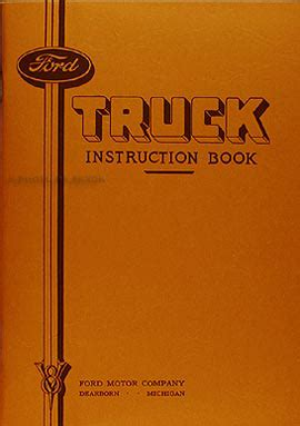 ford  ton truck reprint owners manual  ton