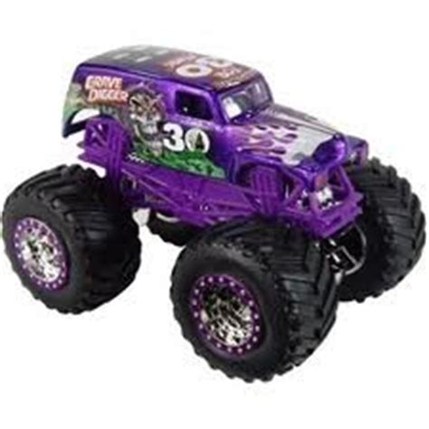 grave digger 30th anniversary monster truck toy amazon com wheels monster jam purple grave digger