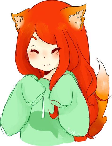 foxgirl fox girl kawaii cute animal