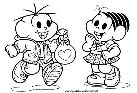 monica  cebolinha amiguinhos desenhos  colorir
