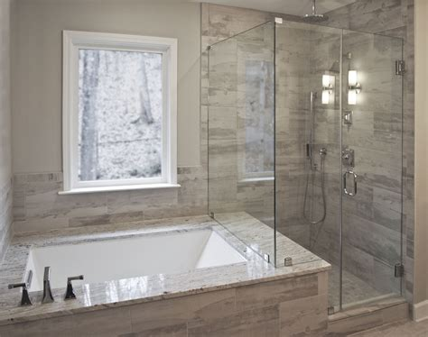 Drop In Tub Shower Combo by Bathroom Remodel By Craftworks Contruction Glass Enclosed
