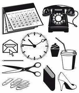 Fournitures De Bureau Et Graphiques Illustration De