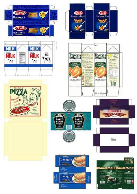 faire une cuisine en 3d objets papier imprimer poupees nourriture cuisine
