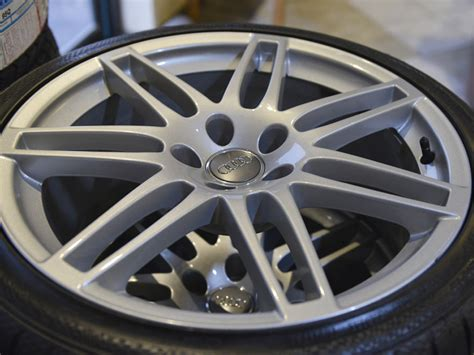 audi 19 rims with continental 255 35r19 tires sold