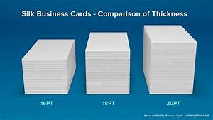 Smooth silk matte business cards from jukeboxprintcom for Standard business card thickness