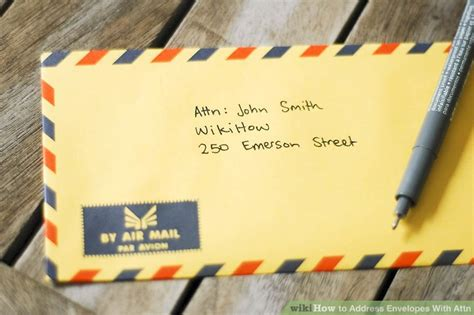 how to address an envelope with attn how to address envelopes with attn with sle envelope