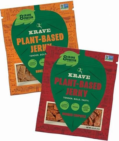 Plant Based Jerky Krave Pork Turkey Chipotle
