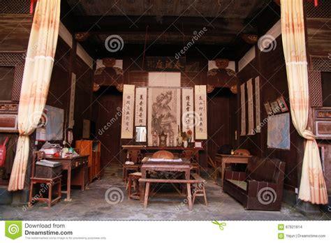 casa cinese salone di una casa cinese antica immagine stock editoriale