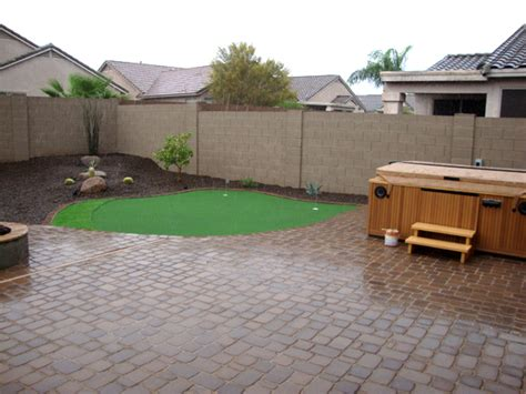 Paver Patio Ideas With Fire Pit by Yard Revamp Remodel Arizona Living Landscape