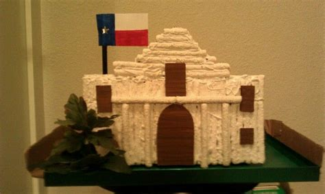 The Alamo....old Pretzel Sticks, Cardboard, Hot Glue, And