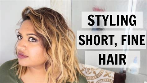 How To Style Short Fine Hair