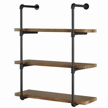 Shelves Pipe Industrial Wall Iron Tier Diy