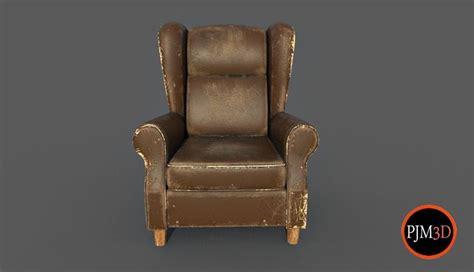 3d Model Old Armchair-v01