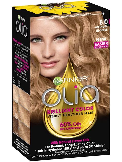 Olia Permanent Ammonia Free Platinum Black Hair Color