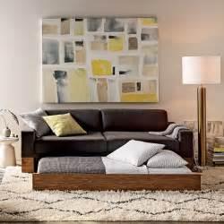 Trundle Sleeper Sofa by Emery Sleeper Sofa Trundle West Elm