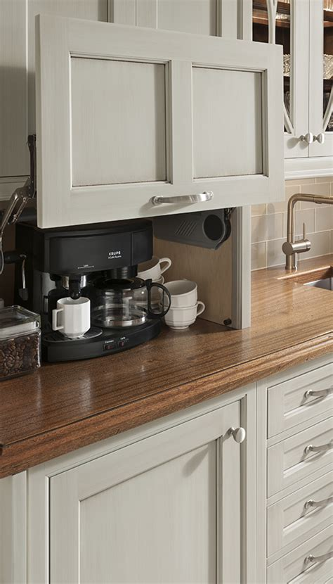 appliance garage wood mode fine custom cabinetry