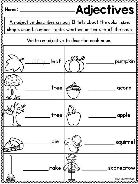 HD wallpapers free adjectives worksheets for kindergarten