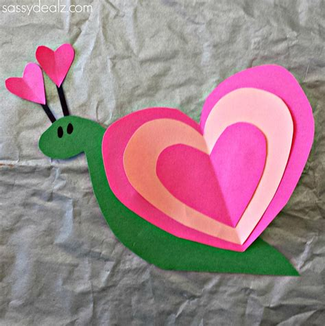Heart Snail Craft For Kids (valentine Art Project